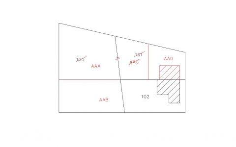 Censuario di frazionamento + mappale senza formazione ...